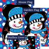 Whimsy Snowman Black Double Sided Yard Makeover Set (3 Pieces)