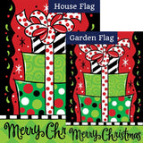 Gift Stack Double Sided Flags Set (2 Pieces)