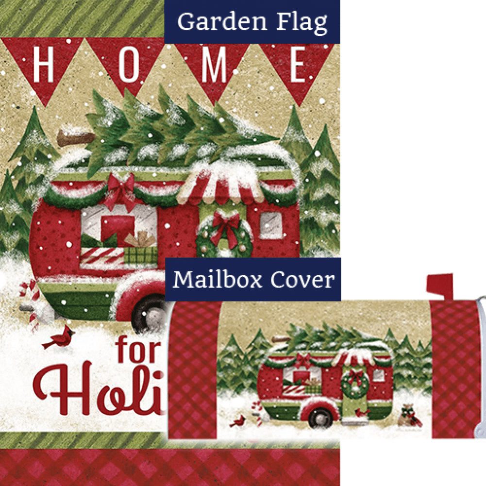 Holiday Camper Double Sided Flag Mailwrap Set (2 Pieces)