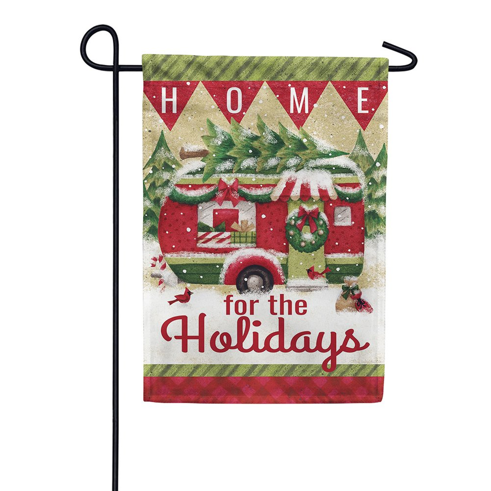 Holiday Camper Double Sided Garden Flag
