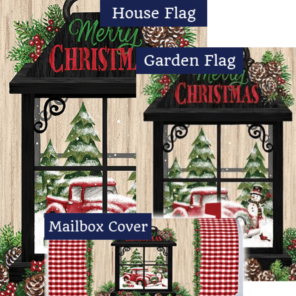 Christmas Lantern Merry Christmas Yard Makeover Set (3 Pieces)