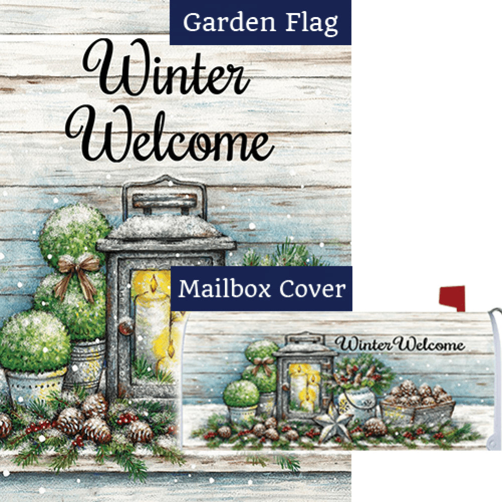 Warm Winter Welcome Double Sided Flag Mailwrap Set (2 Pieces)