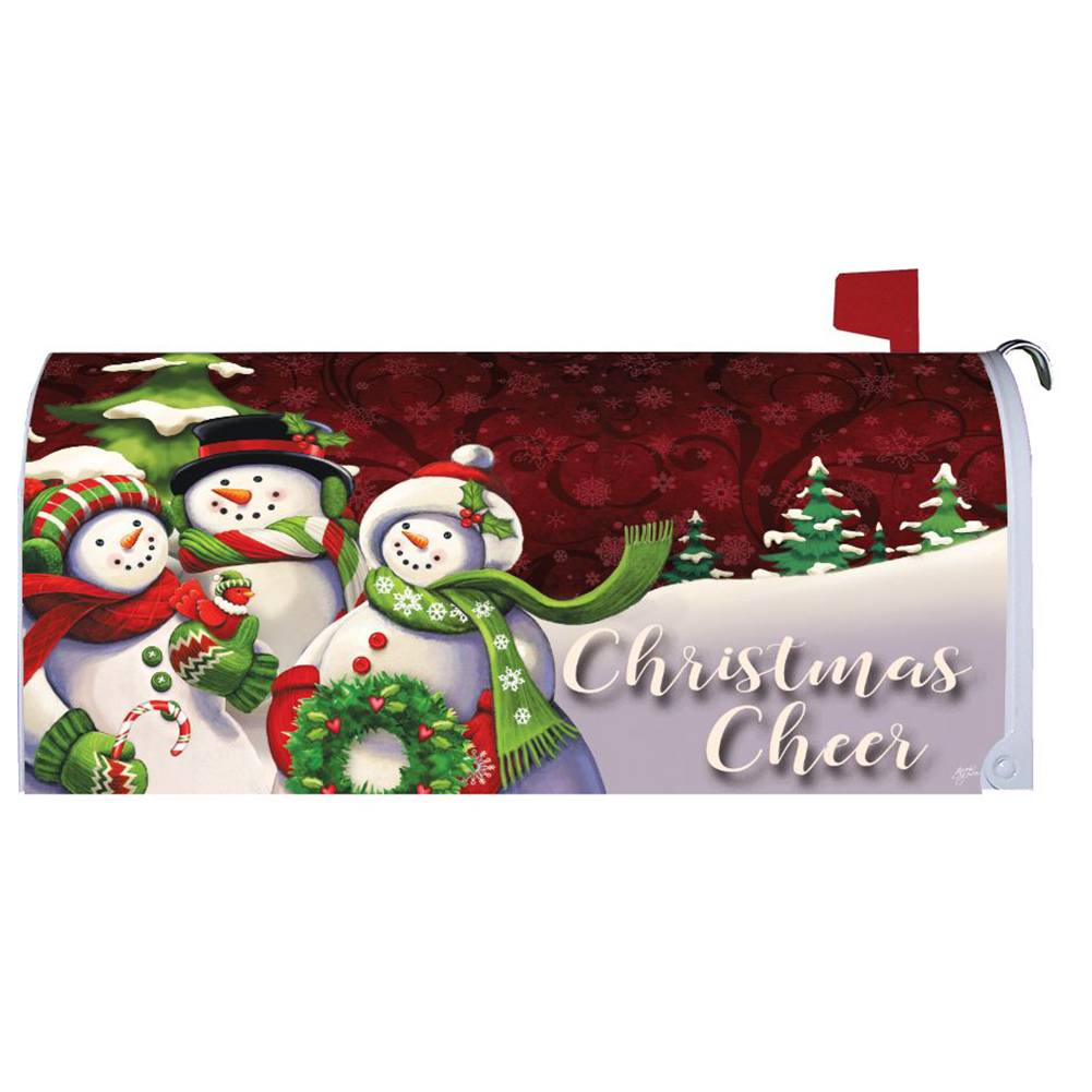 Christmas Cheer Snowman Mailbox Cover