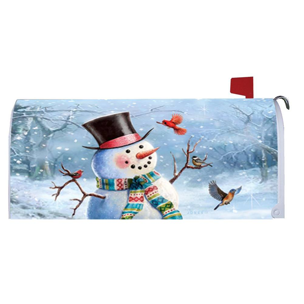 Woodsy Snowman Mailbox Cover