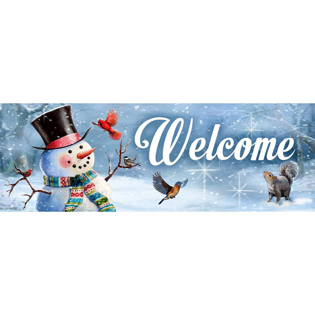 Woodsy Snowman Signature Sign