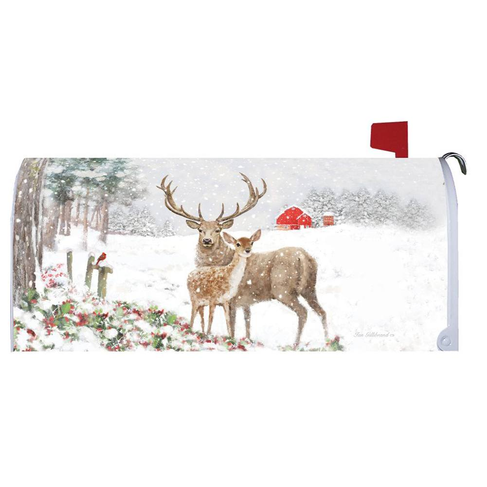 Deer Pair Mailbox Cover
