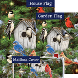 Winter Birdhouse Pinecones Double Sided Yard Makeover Set (3 Pieces)