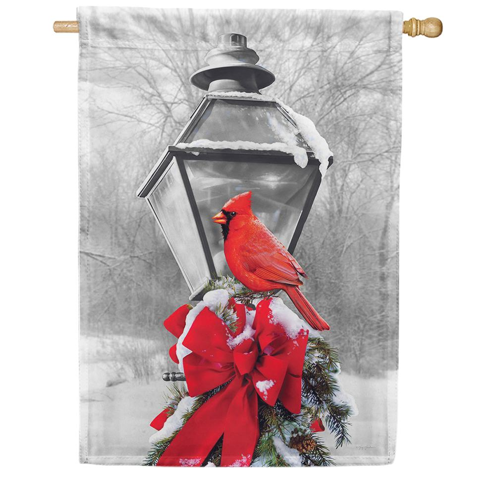 Cardinal Lamp Post House Flag