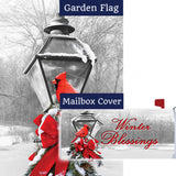 Cardinal Lamp Post Flag Mailwrap Set (2 Pieces)