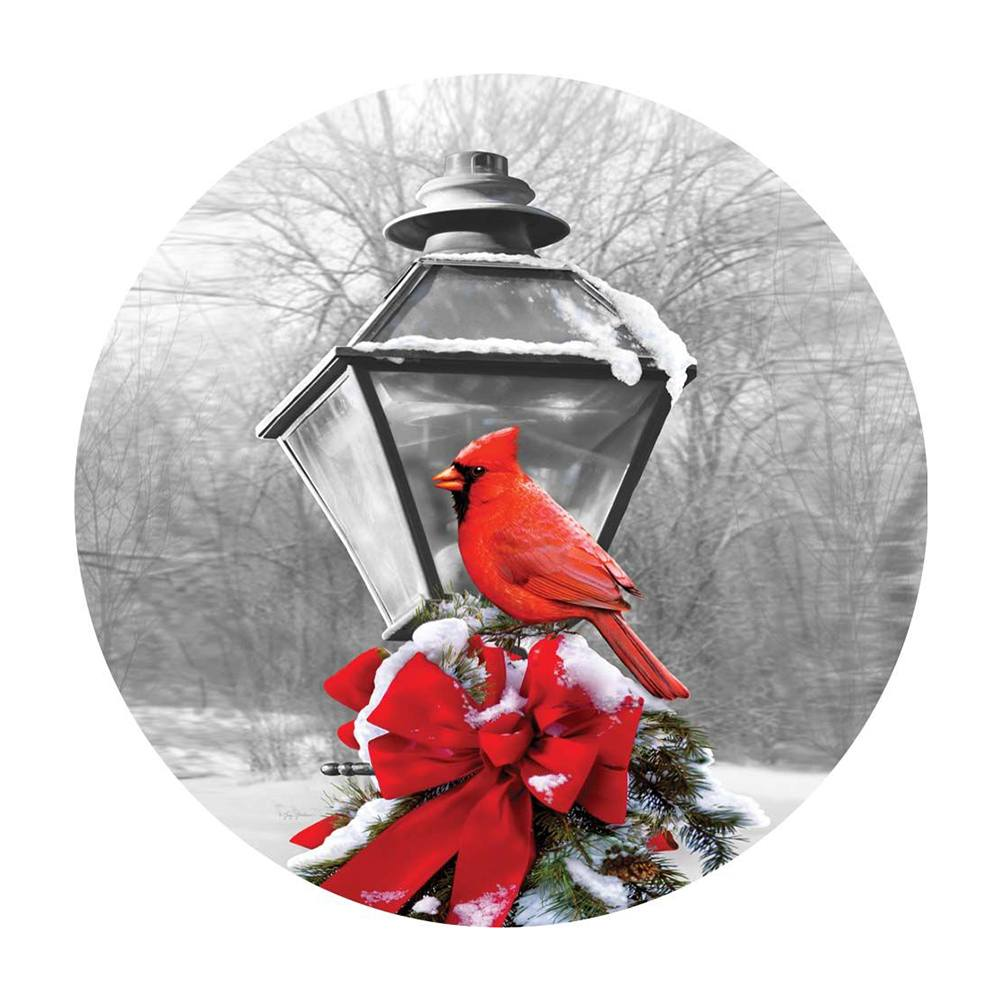 Cardinal Lamp Post Accent Magnet