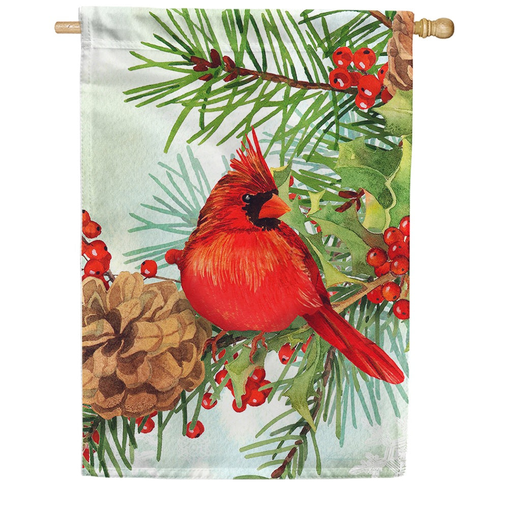 Cardinals & Pines House Flag