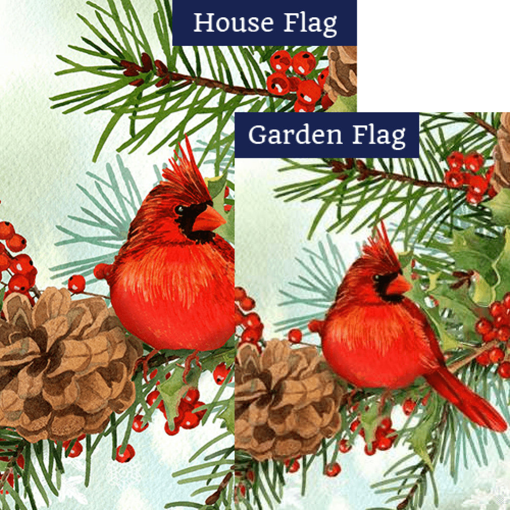 Cardinals & Pines Flags Set (2 Pieces)