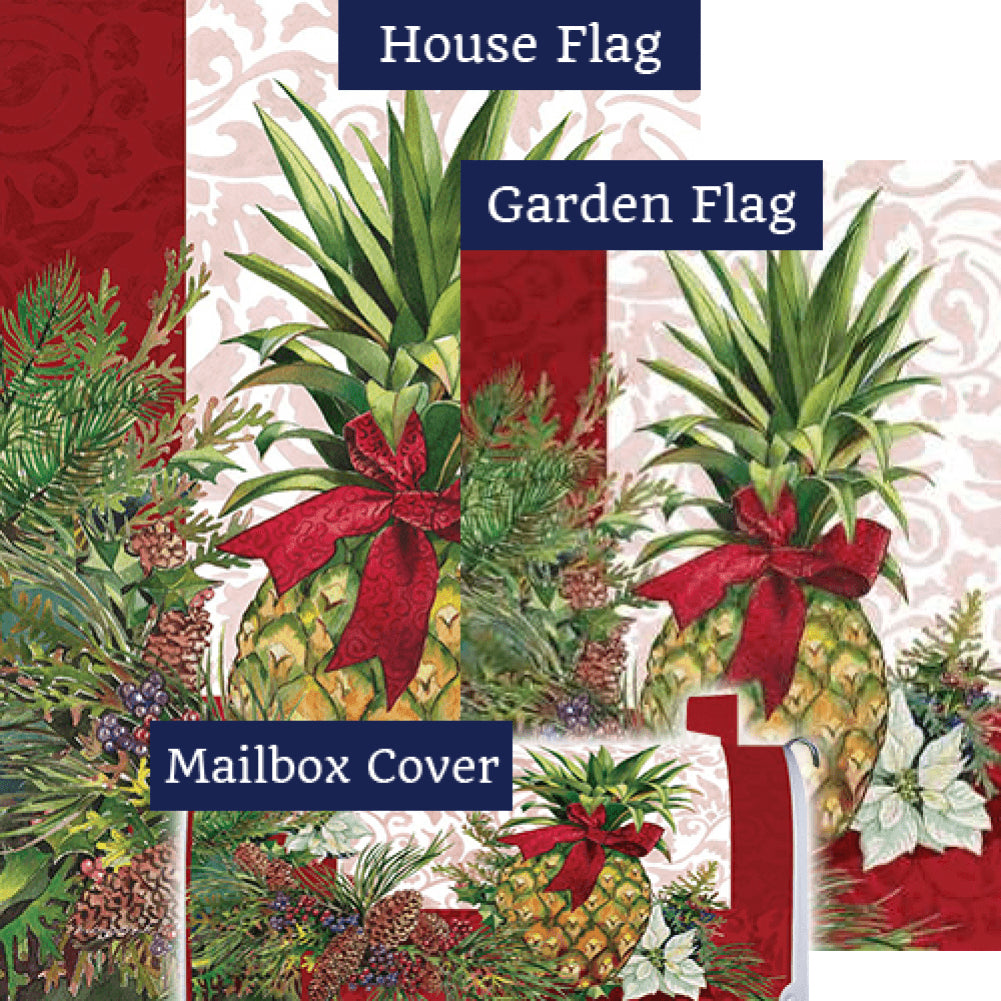 Holiday Pineapple Poinsettia Yard Makeover Set (3 Pieces)