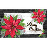 Christmas Poinsettia Holly Doormat