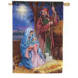 Mary And Joseph Double Sided House Flag