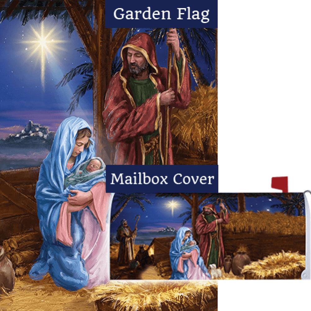 Mary And Joseph Double Sided Flag Mailwrap Set (2 Pieces)