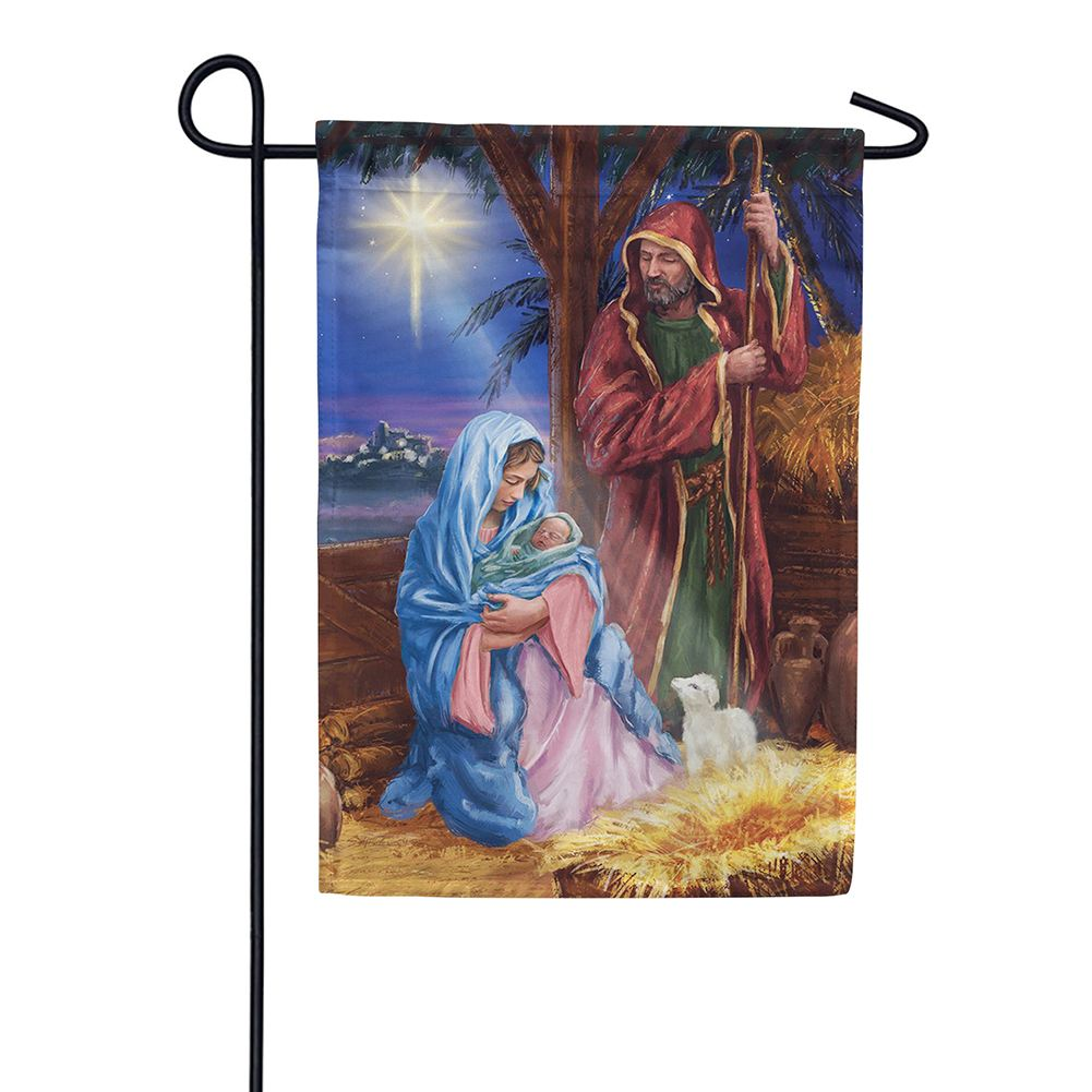 Mary And Joseph Double Sided Garden Flag