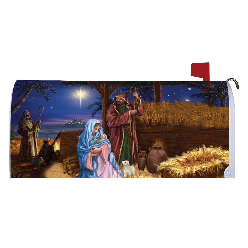 Mary And Joseph Mailbox Cover