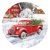 Red Truck & Barn Accent Magnet