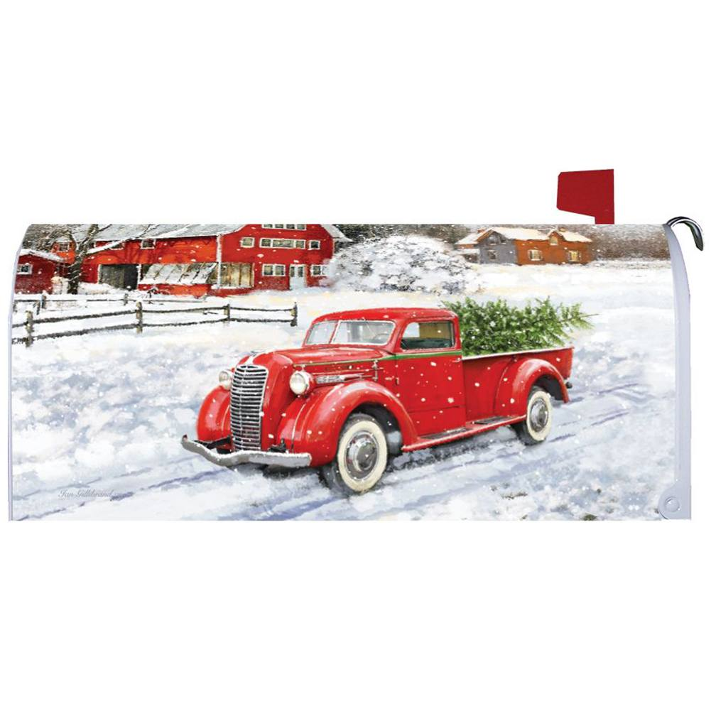 Red Truck & Barn Mailbox Cover