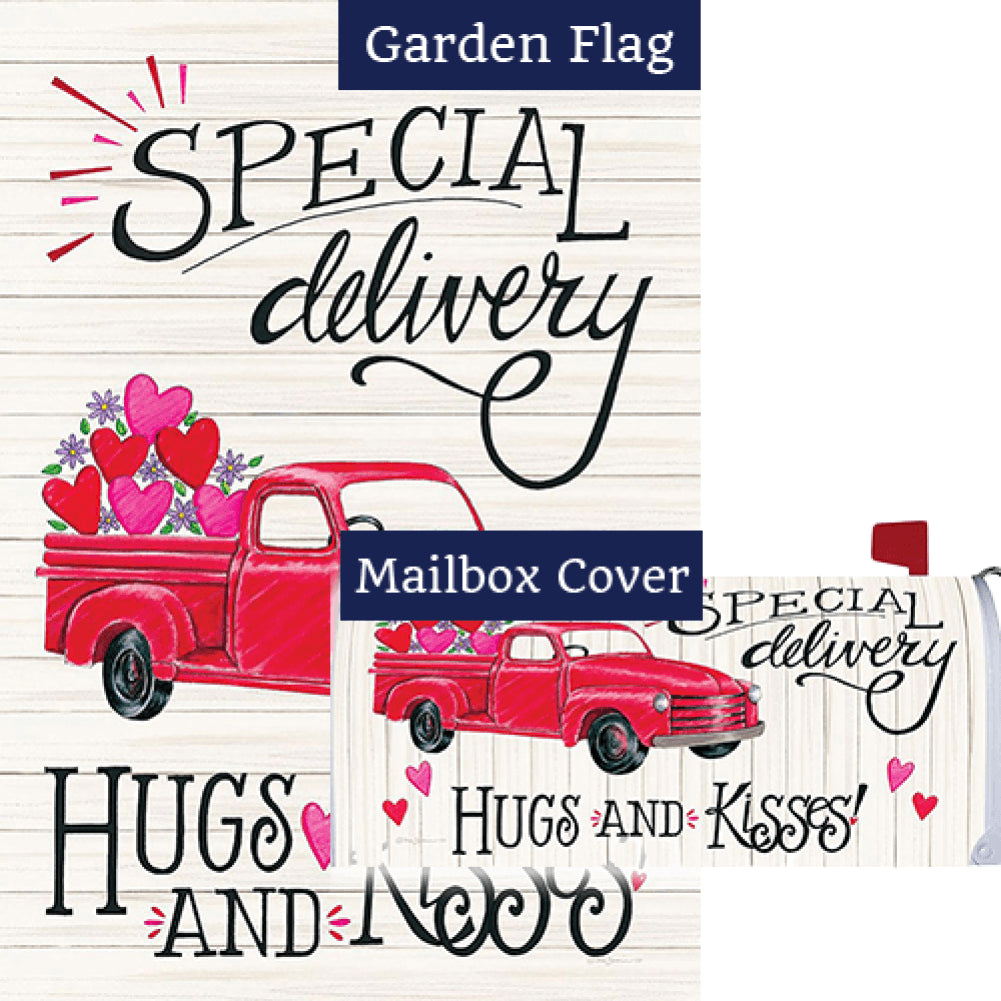 Special Delivery Valentine Flag Mailwrap Set (2 Pieces)