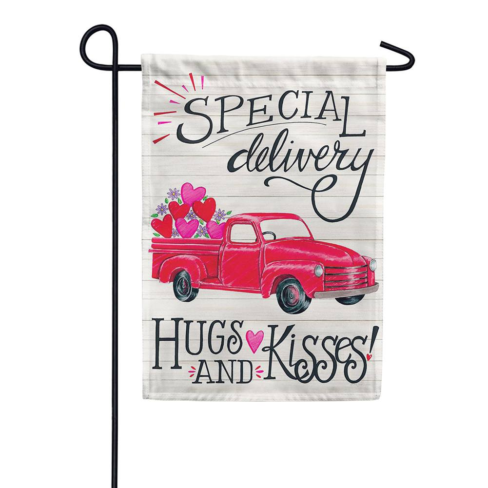 Special Delivery Valentine Double Sided Garden Flag