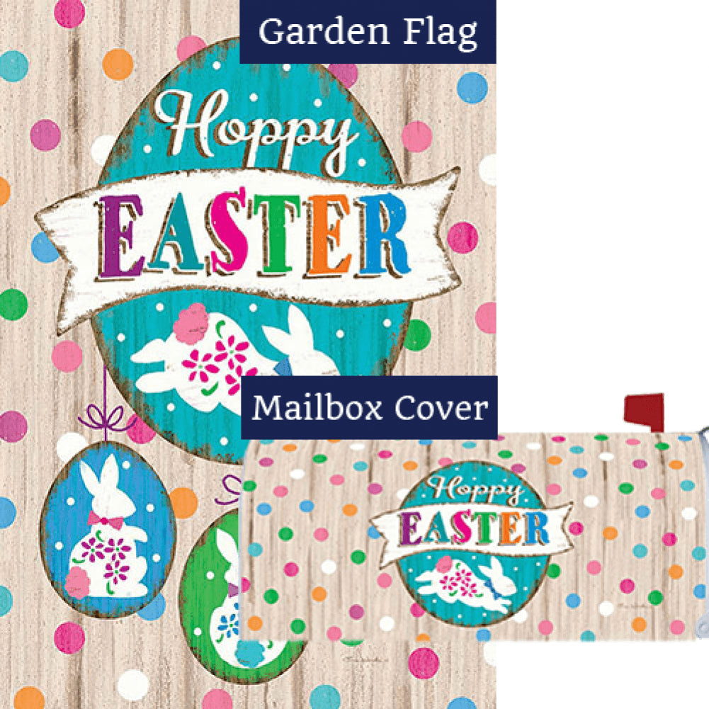 Wooden Easter Double Sided Flag Mailwrap Set (2 Pieces)