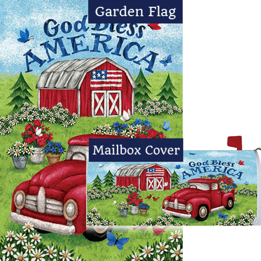 Truck and Barn Flag Mailwrap Set (2 Pieces)