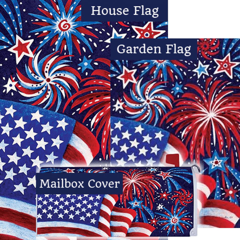 Fireworks And Flag Yard Makeover Set (3 Pieces)