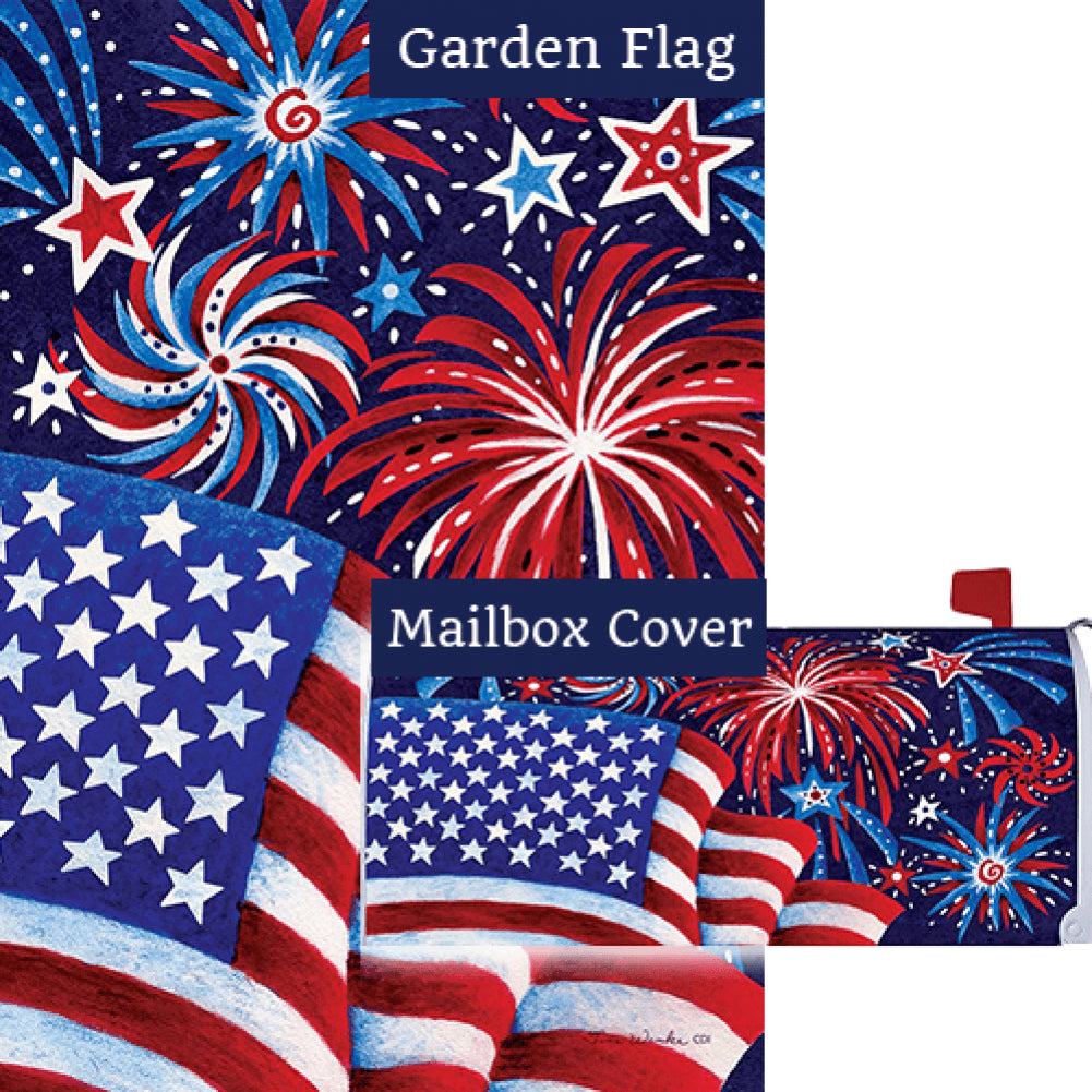Fireworks And Flag Flag Mailwrap Set (2 Pieces)