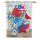Patriotic Still Life House Flag