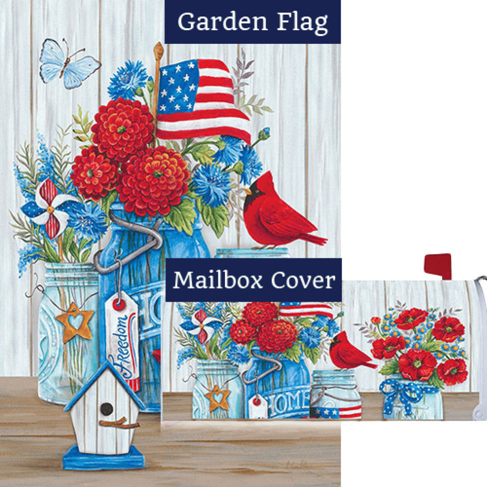 Patriotic Still Life Flag Mailwrap Set (2 Pieces)