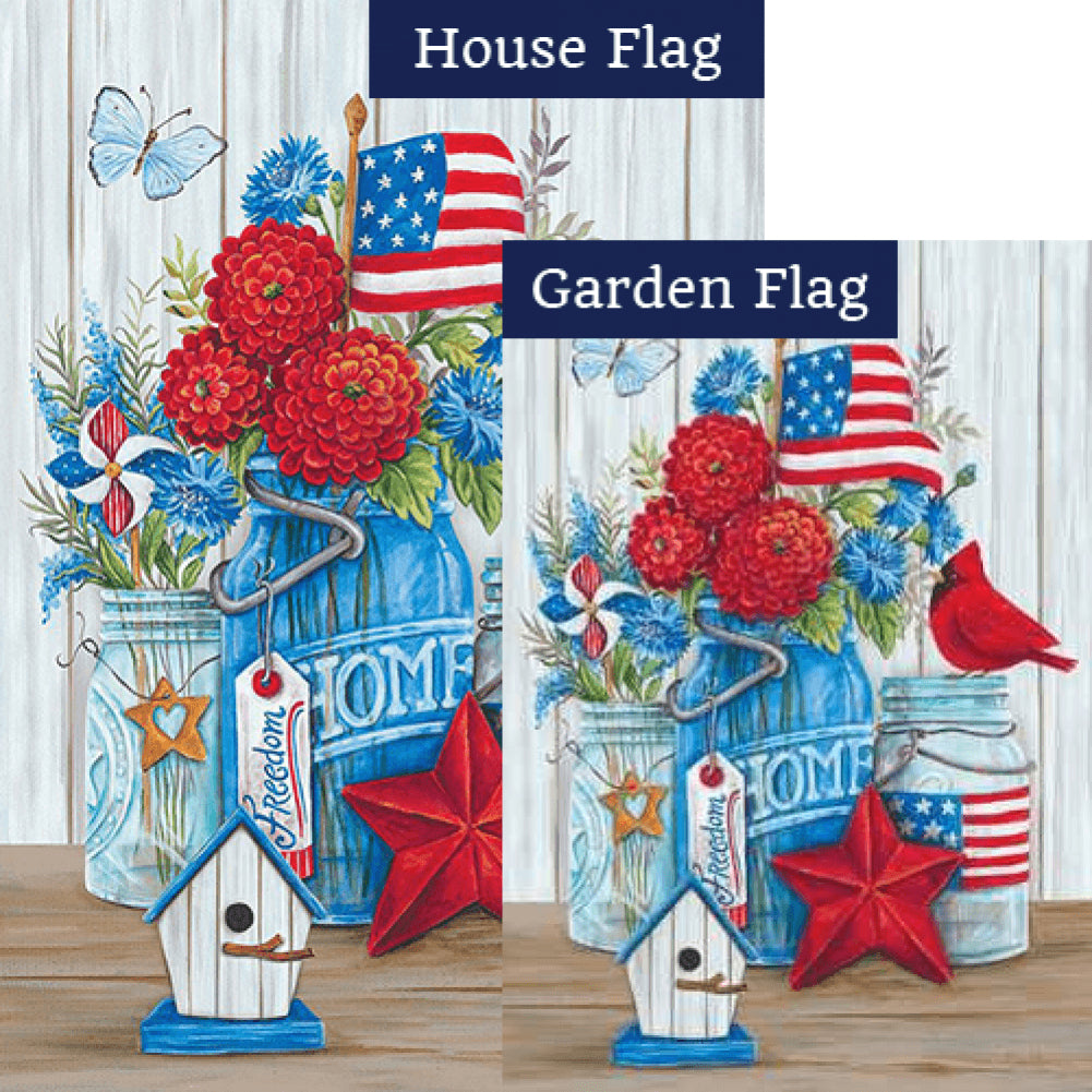 Patriotic Still Life Flags Set (2 Pieces)