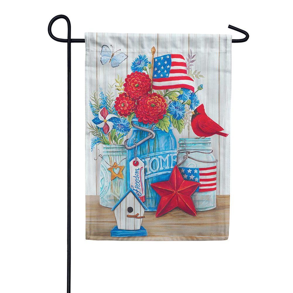 Patriotic Still Life Garden Flag