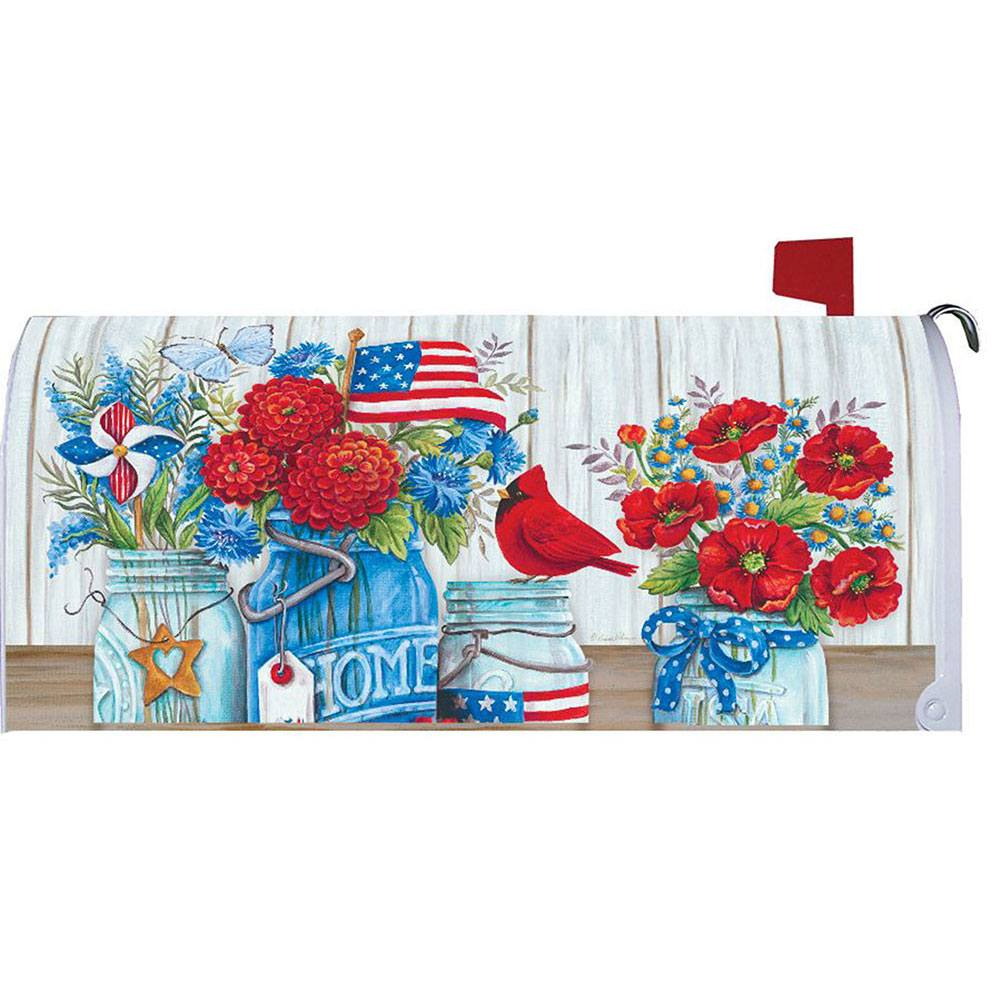 Patriotic Still Life Mailbox Cover