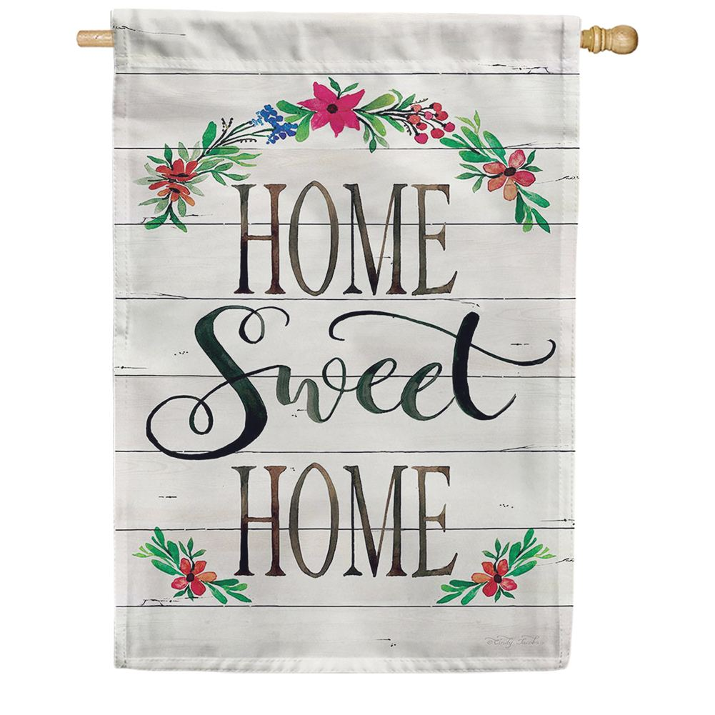 Shiplap Home Double Sided House Flag