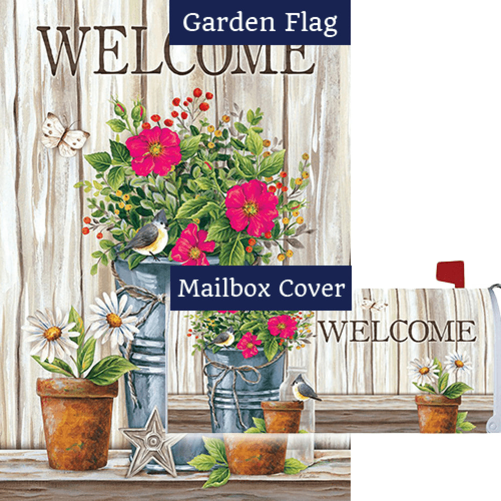 Wildflower Pail Flag Mailwrap Set (2 Pieces)