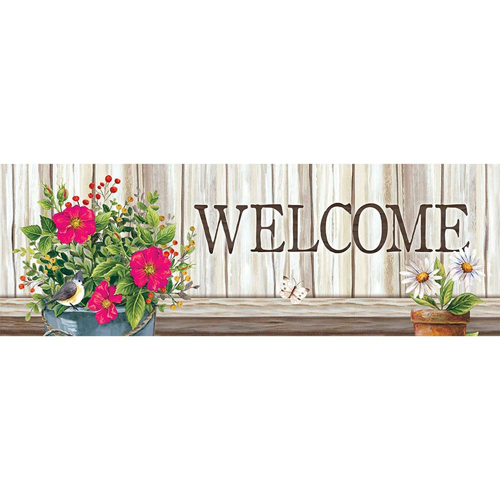Wildflower Pail Signature Sign