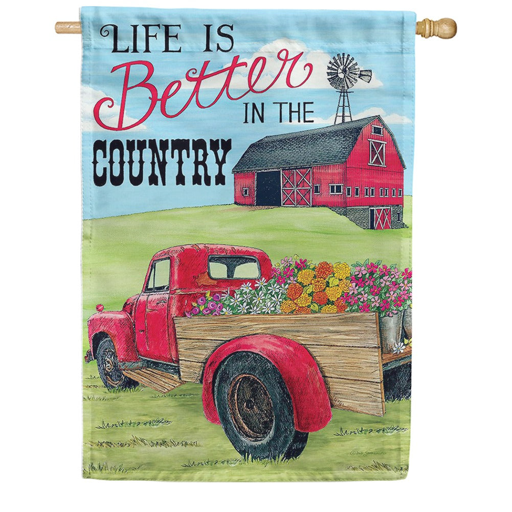 Better In The Country Double Sided House Flag