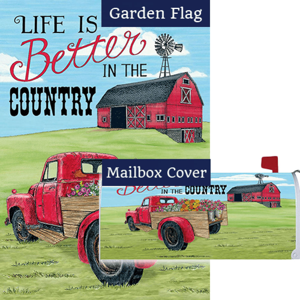 Better In The Country Flag Mailwrap Set (2 Pieces)