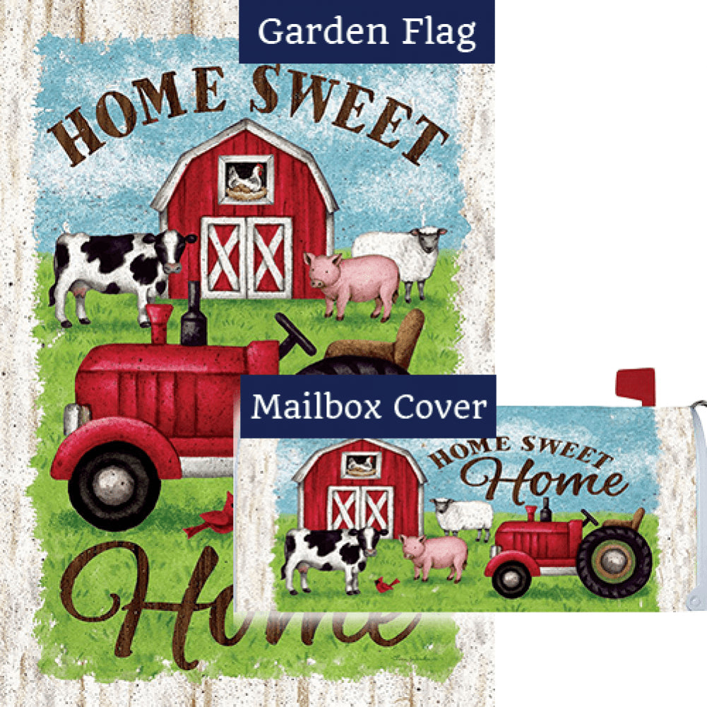 Tractor And Barn Flag Mailwrap Set (2 Pieces)