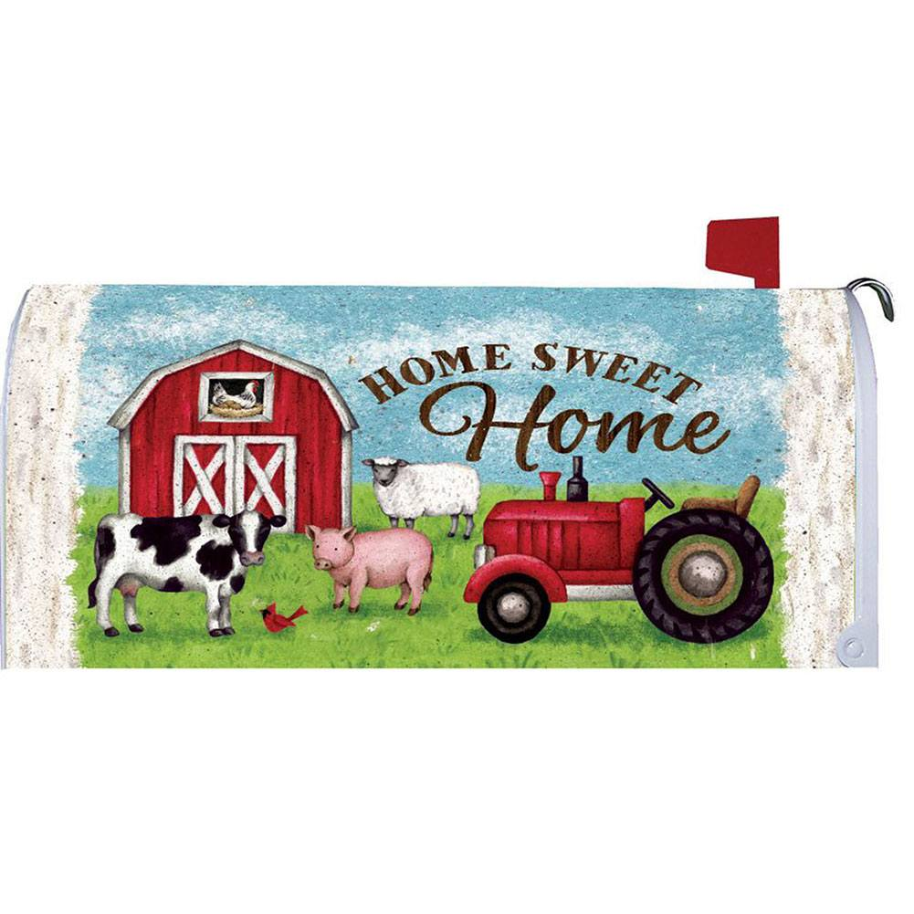 Tractor And Barn Mailbox Cover
