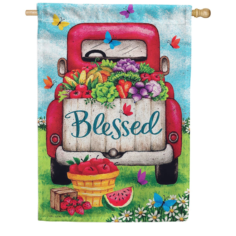 Blessed Truck Double Sided House Flag