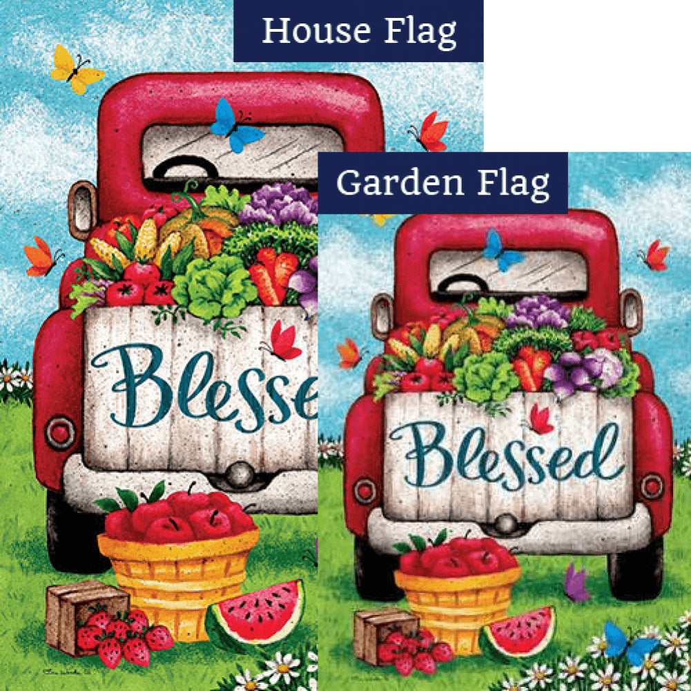 Blessed Truck Double Sided Flags Set (2 Pieces)