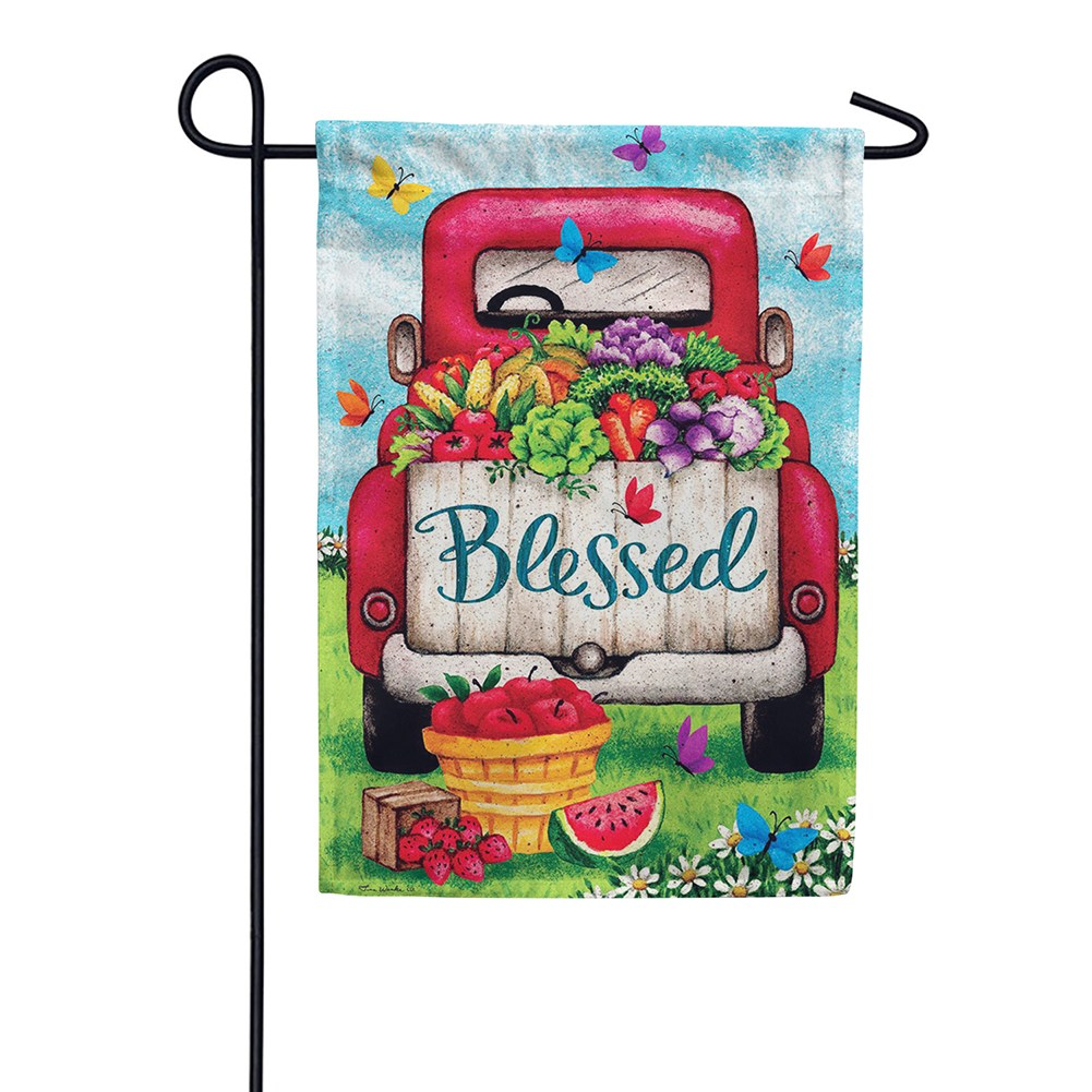 Blessed Truck Double Sided Garden Flag