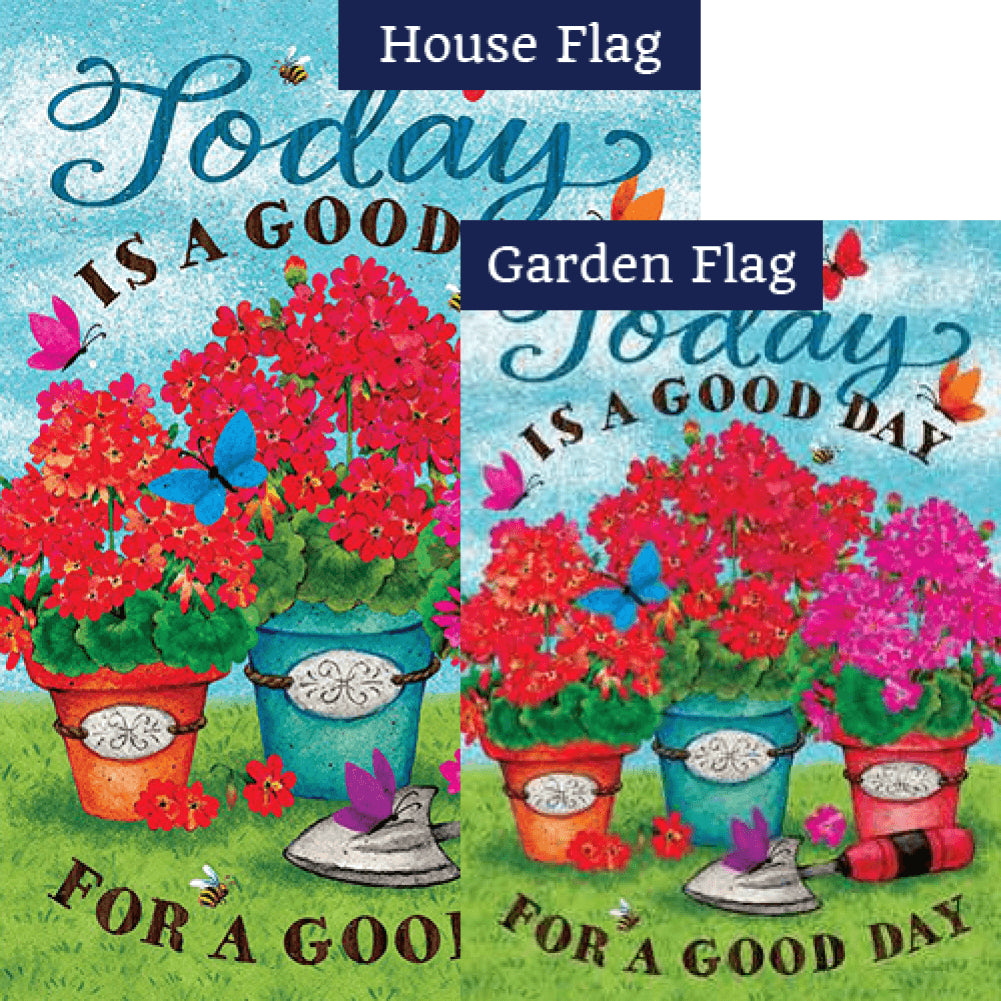 Good Day Double Sided Flags Set (2 Pieces)
