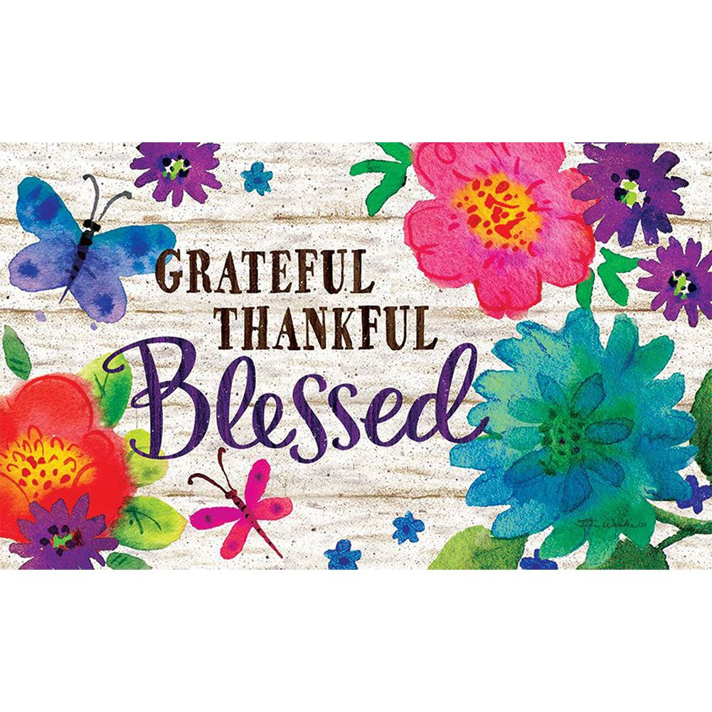 Grateful, Thankful, Blessed Doormat