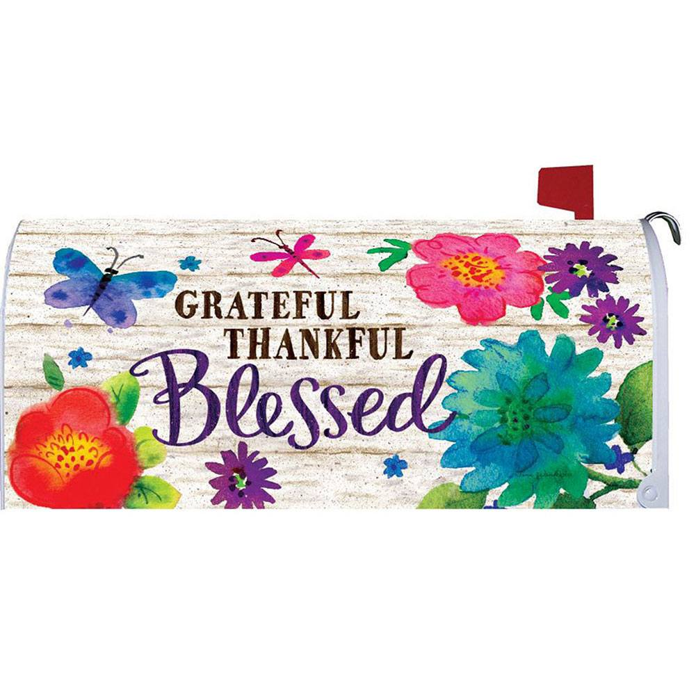 Grateful, Thankful, Blessed Mailbox Cover