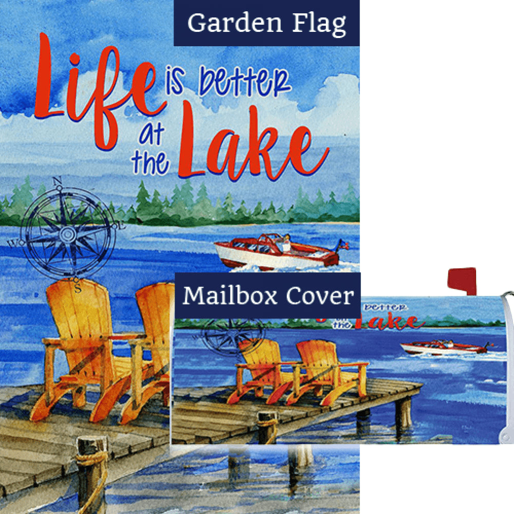 Lake Welcome Flag Mailwrap Set (2 Pieces)