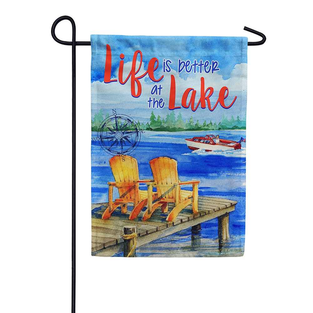 Lake Welcome Double Sided Garden Flag